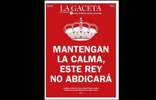 Última portada de 'La Gaceta'.