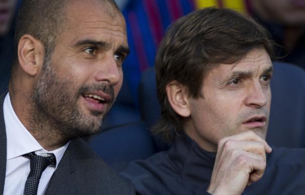 Guardiola y Vilanova cruzaron impresiones en la sala de prensa