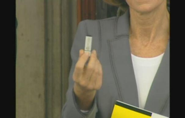 Elena Salgado entrega los Presupuestos de 2011 en el Congreso