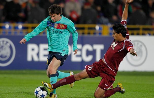 La prensa rusa destaca que el Barcelona, ni con Messi, puede con el Rubín