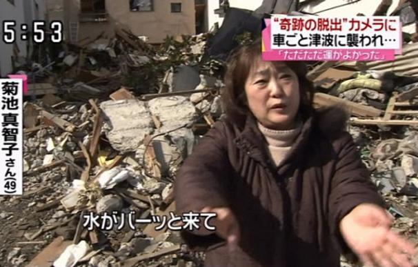 Machiko Kikuchi explica cómo escapó del tsunami (NTC)