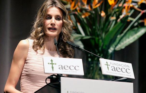 Doña Letizia dice que investigar es el único camino para ganar al cáncer