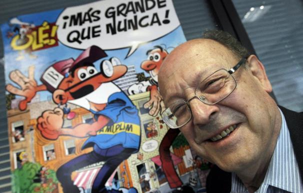 El 'padre' de Mortadelo y Filemón celebra su 75 cumpleaños dibujando