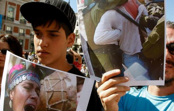 Una manifestación respalda en Madrid a los mapuches en huelga de hambre