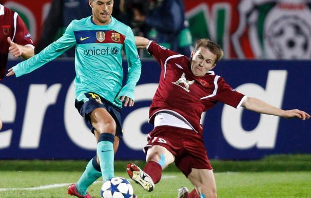 El Barça se congela en Kazan