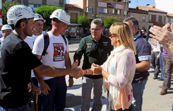 Los mineros palentinos salen del encierro con satisfacción tras la aprobación del Decreto