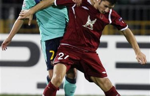 Un derrochador Barcelona empata de nuevo en Kazan