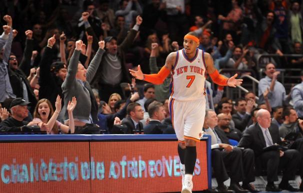 """113-106. """"Melo"""" pudo con """"Superman"""" y los Knicks rompieron racha perdedora"""