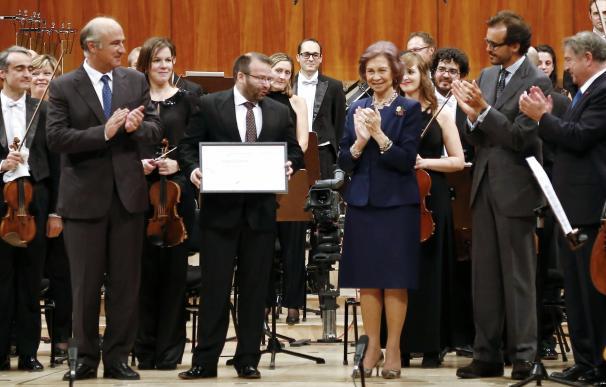La Reina Sofía entrega el premio de música a Francisco Martín Quintero