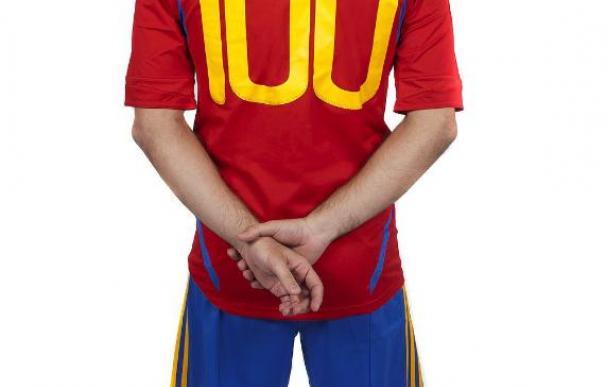Xavi, el cuarto jugador centenario de la historia de la selección