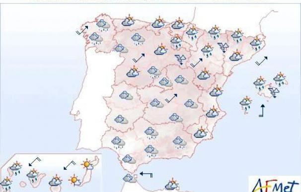 Mañana, chubascos fuertes en el norte de Baleares y tormentas en Cataluña