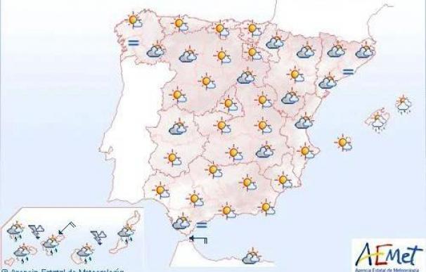 Posibles chubascos localmente fuertes en Canarias