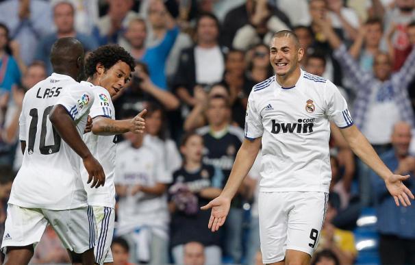 3-0. El Madrid golea al Espanyol sin jugar bien y con polémica