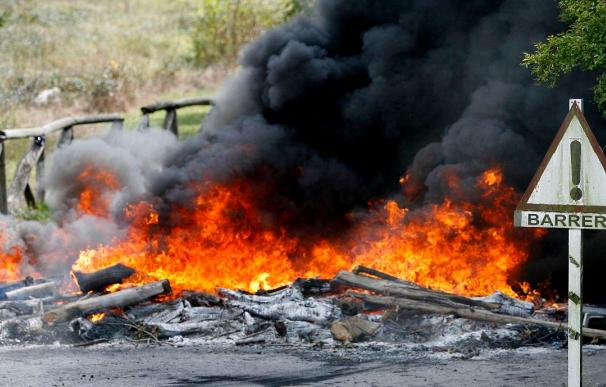 Paro total en las cuencas mineras de León en la primera jornada de huelga