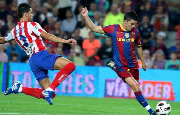 1-0. Villa resuelve para el Barça un duelo sin brillo ante el Sporting