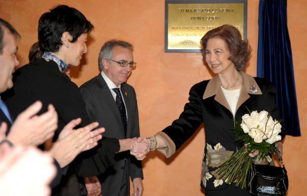 Doña Sofía inaugura el Teatro Gaztambide en una visita cultural a Tudela