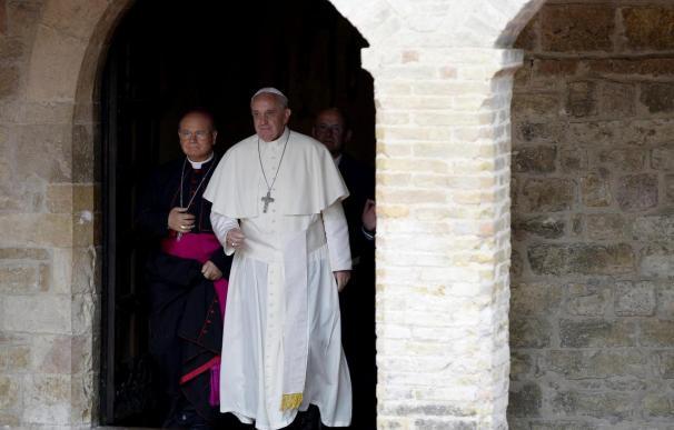 El Papa Francisco durante una de sus últimas apariciones públicas.