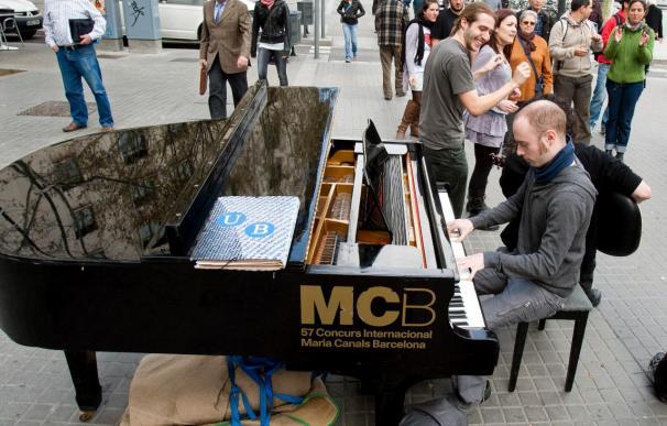 Un piano en las calles de Barcelona