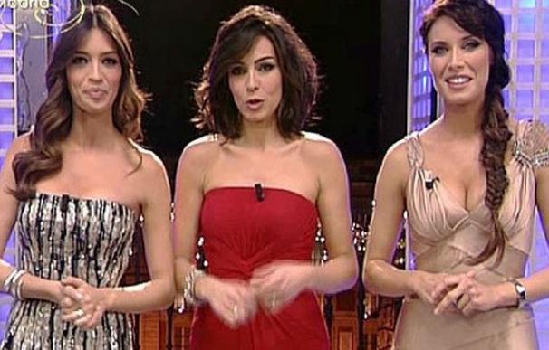 Sara Carbonero, Marta Fernández y Pilar Rubio en las Campanadas de Telecinco en 2010.