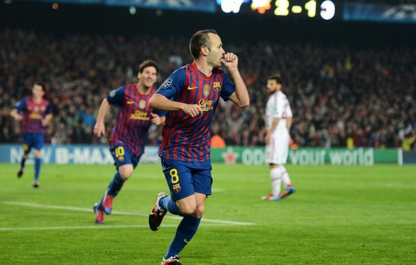 Iniesta, metió al Barça en las semifinales de la 2011/12
