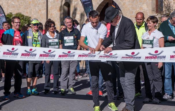 La Rioja Alavesa celebra la 'Wine Run', con la participación del lehendakari en su marcha popular