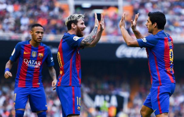 La 'MSN' jugará de inicio ante el Granada.