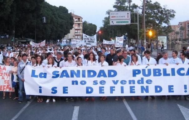 Imagen de una manifestación en defensa de la Sanidad Pública.