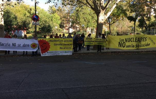 Una veintena de activistas, algunos de C-LM, piden ante el CSN la dimisión de su presidente