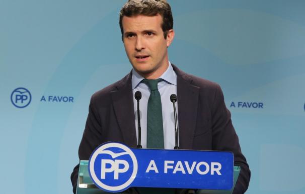 """Casado espera un PSOE """"exigente pero responsable"""" porque pactar no es """"ir de montería y cobrarse piezas"""""""