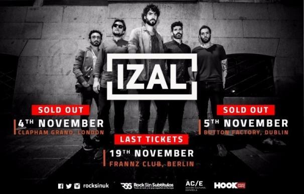 Izal, en noviembre en Londres, Dublín y Berlín de la mano de Rock Sin Subtítulos