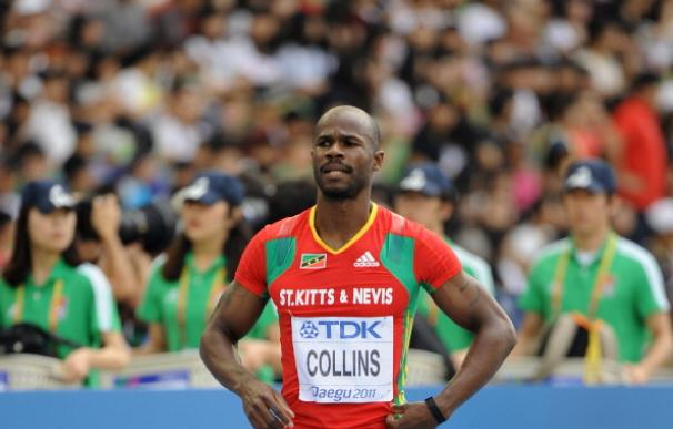 Kim Collins, instantes antes de la final de 200 metros del Mundial de Daegu 2011