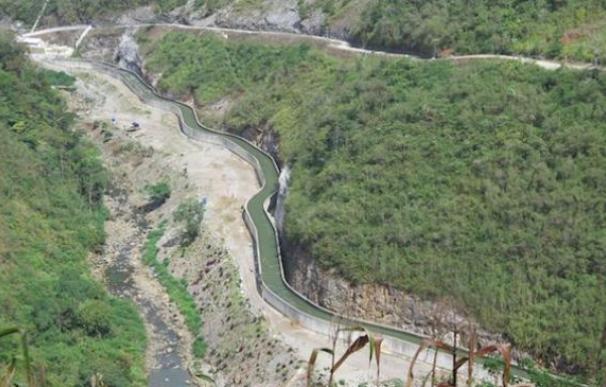 El río Cahabón, encauzado