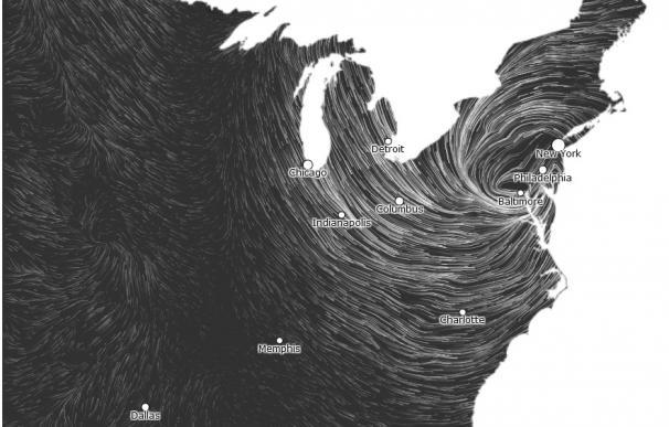 Sigue la evolución del huracán Sandy en directo en este mapa interactivo de Hint.fm