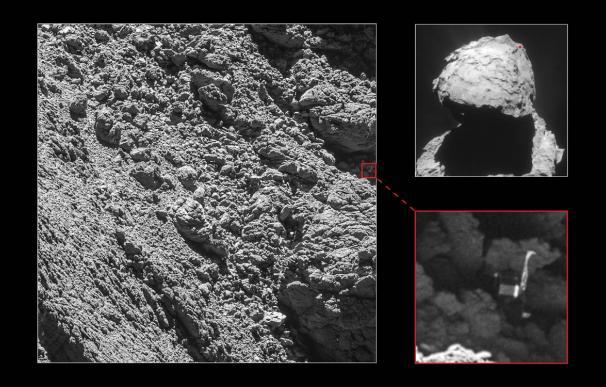 Así ha mostrado la ESA la localización de Philae en el cometa Churyumov-Gerasimenko