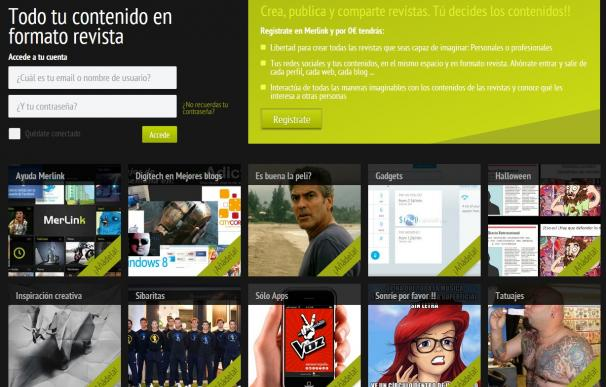 Crea tus propias revistas digitales con Merlink.me