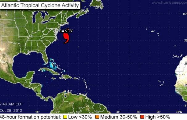 Seguimiento minuto a minuto del huracán Sandy.