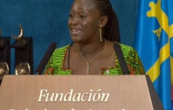 """Caddy Adzuba comparte el """"honor"""" con mujeres víctimas de violencia sexual y activistas de todo el mundo"""