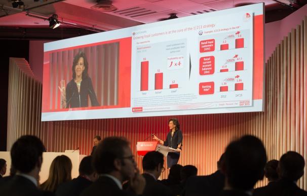 El Santander reafirma su compromiso de elevar el dividendo y el beneficio hasta 2018 pese al Brexit