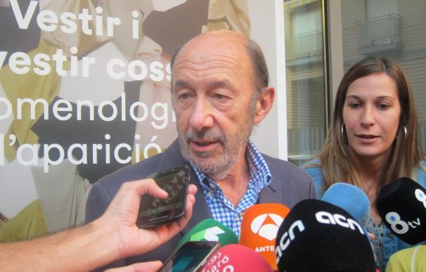 """Rubalcaba: """"Primero hay que dar un gobierno a España y después hablar del PSOE"""""""