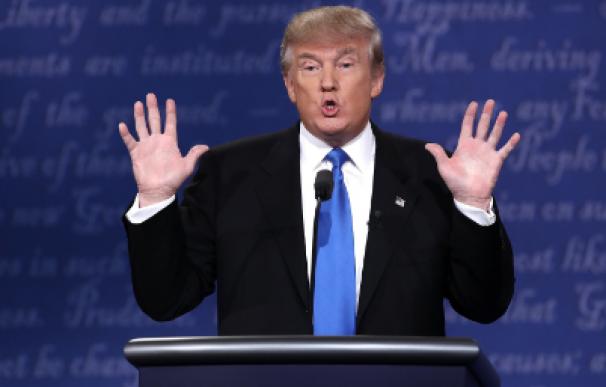Donald Trump durante el debate