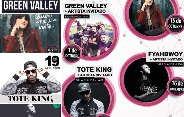 Green Valley, Rozalén, Tote King y Fyahbwoy, en el ciclo Conexión Valladolid