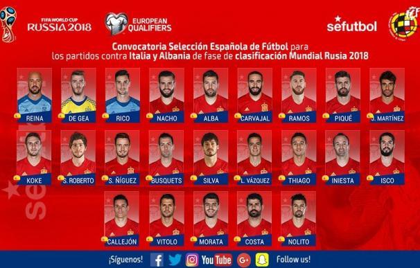 Julen Lopetegui confía los goles de la Selección a Callejón, Diego Costa y Morata