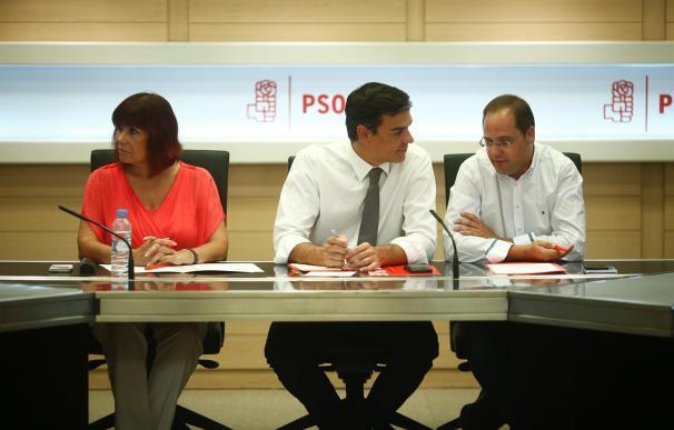 """La Ejecutiva """"en funciones"""" del PSOE pide """"serenidad"""" y evitar concentraciones ante las sedes"""