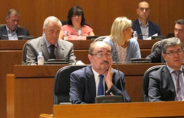 """El presidente aragonés dice que el Acuerdo de la izquierda servirá para recuperar lo que PP y PAR """"destruyeron"""""""