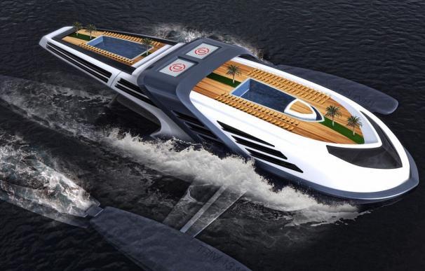 Este es el yate del futuro: tendrá un jardín tropical y se deslizará por el agua como una ballena