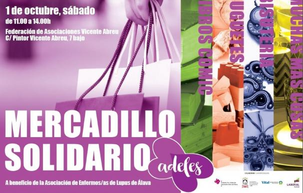La Asociación de Enfermos de Lupus de Álava celebra este sábado en Vitoria un rastrillo benéfico