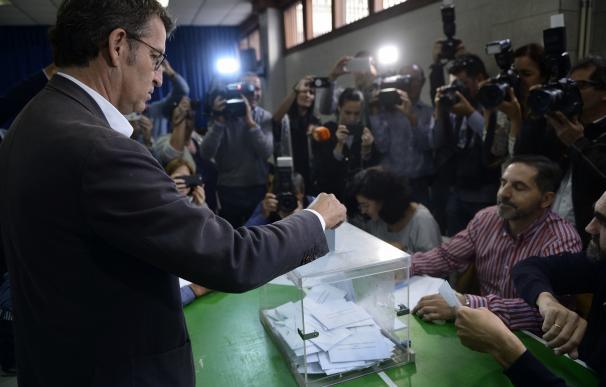 Núnez Feijóo, en el momento de votar.