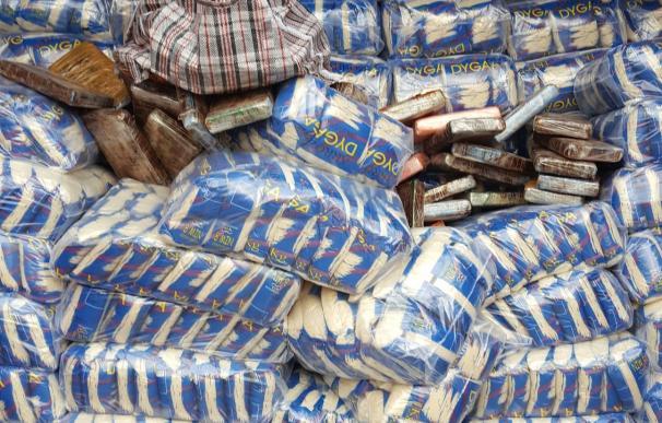Intervenidos 42 kilos de cocaína ocultos entre paquetes de arroz procedentes de Brasil en el Puerto de Las Palmas