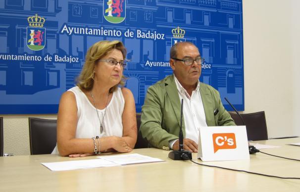 """Ciudadanos da por """"suspensas"""" sus relaciones con el gobierno del PP en el Ayuntamiento de Badajoz"""