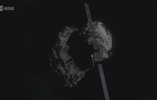 Recreación del descenso final de Rosetta al cometa 67P/Churyumov–Gerasimenko